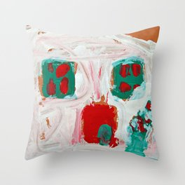 holiday gingerbread house - kids art Christmas Throw Pillow