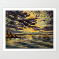 I'll be at the lake  Art Print