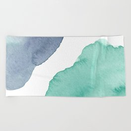 Watercolor Drops Beach Towel