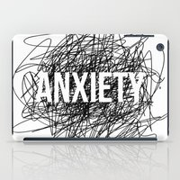 anxiety iPad Cases featuring anxiety by petrsvetr