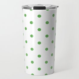Polka Dots Pattern: Grass Green Travel Mug