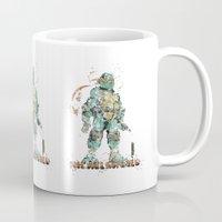 teenage mutant ninja turtles Mugs featuring Michelangelo Teenage Mutant Ninja Turtles by Carma Zoe