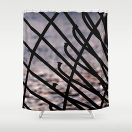FENCE ALONG FORT LAUDERDALE RIVER Shower Curtain