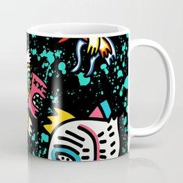 Mostrini in the Space Graffiti Street Art  Coffee Mug