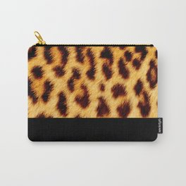 Leopard skin with black color Carry-All Pouch