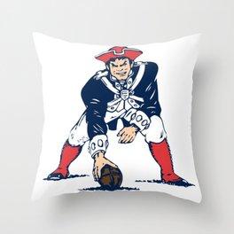 NE Pats Retro Throw Pillow