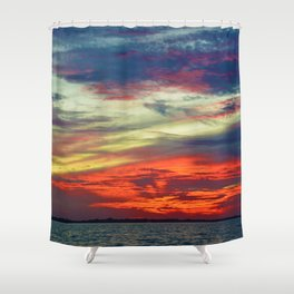 October Lake St.Clair Sunset Shower Curtain