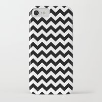 chevron iPhone & iPod Cases featuring Chevron (Black/White) by 10813 Apparel