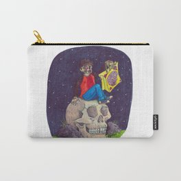 HALLOWEEN - Zombie-Boy with Skull  Carry-All Pouch