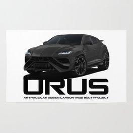 Lmbrgn Urus Carbon Car Design Black Project Rug