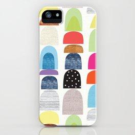 Semi Circles Geos iPhone Case