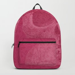 Pink Skull and Retro Pattern Backpack