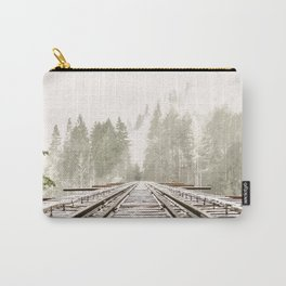 Railway in the forest Carry-All Pouch