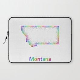 Rainbow Montana map Laptop Sleeve