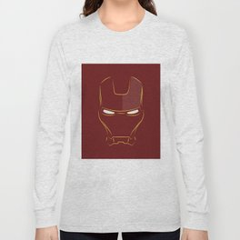 iron man face Long Sleeve T-shirt