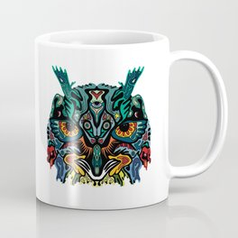 Trippy Geometric Owl Totem Coffee Mug