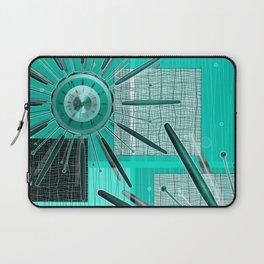 Retro! Retro! Star burst clock Laptop Sleeve