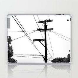 Power Lines at the bluff Laptop & iPad Skin