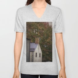 Autumn leaves in Harpers Ferry, West Virginia Unisex V-Neck