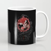 daredevil Mugs featuring Daredevil by Timo Ambo
