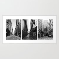 3 views from the town Art Print
