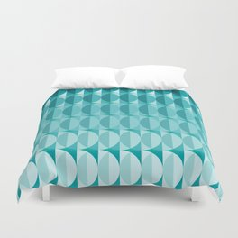 Leaves in the moonlight - a pattern in teal Duvet Cover