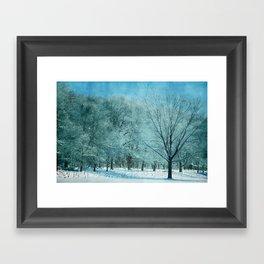 Morning Frost Framed Art Print
