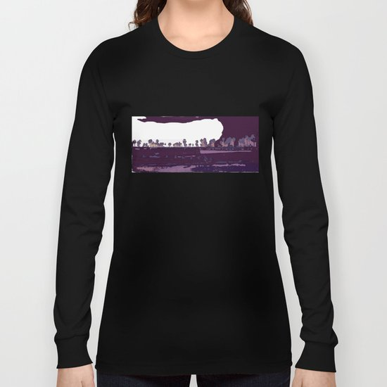 Landscape of coconuts and rice Long Sleeve T-shirt