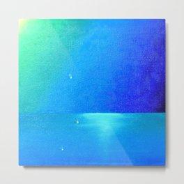 Ocean & Waterdrops / Oil Painting Metal Print
