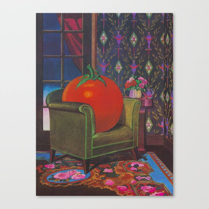 Therapy With A Tomato Milton Glaser - Tomato- Something unusual is going on here - 1978 Leinwanddruck