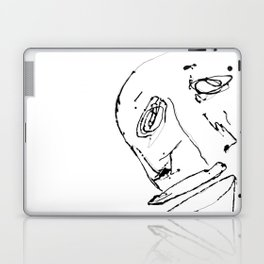 White twisted face Laptop & iPad Skin