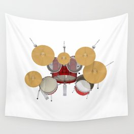 Red Drum Kit Wall Tapestry