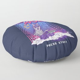 Snow Wolf Floor Pillow