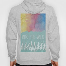 Into the Wild - Wild Heart Boho Watercolor Mountains Hoody