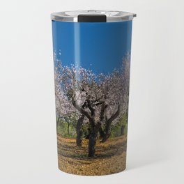 Almond orchard in Portugal Travel Mug
