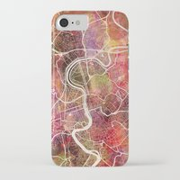 rome iPhone & iPod Cases featuring Rome by MapMapMaps.Watercolors