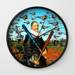 THE F22 RAPTOR HUNTER IN EARLY SPRING I Wall Clock