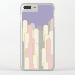 Lilac stripes pattern deco Clear iPhone Case