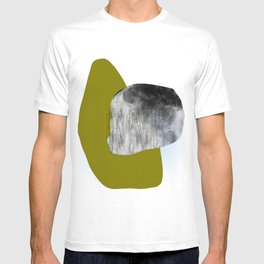 Moss and Bark 1 Mid-Century abstract T-shirt