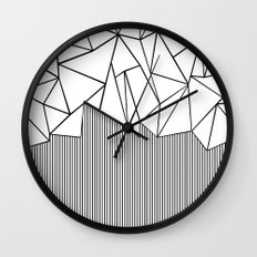 Ab Lines White Wall Clock