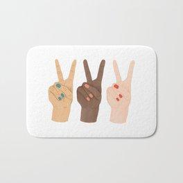 Peace Sign Bath Mats For Any Bathroom, Peace Sign Bathroom