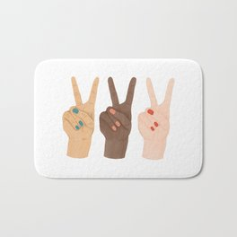 Peace Hands Bath Mat