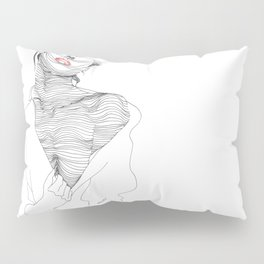 line drawing of a beautiful muse Pillow Sham