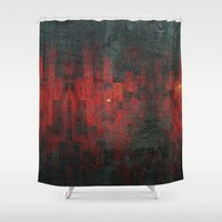 vagina Shower Curtains featuring Ruddy by Aaron Carberry