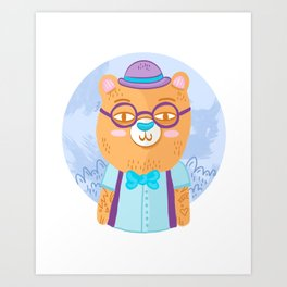 Bears in the Forest Art Print