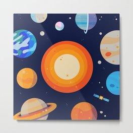 Planets Series Poster Metal Print
