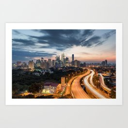 Fast Paced City Streets Art Print