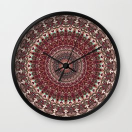 Mediterranean Boho Kaleidoscope Wall Clock