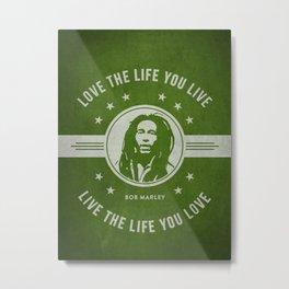 Marley - Green Metal Print