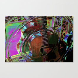 The Magic of Guitar Waves Canvas Print